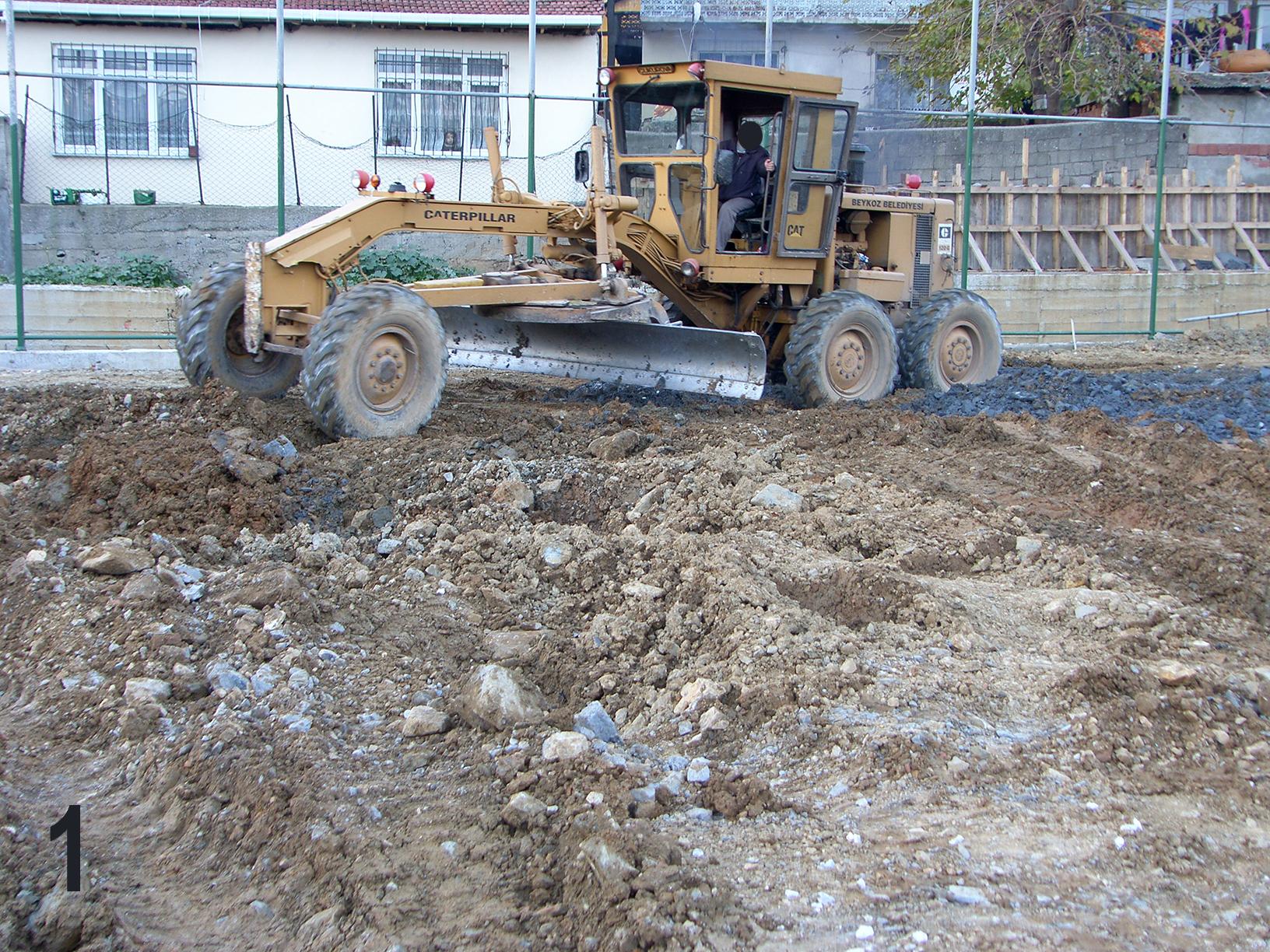 halı saha harfiyat, halı saha inşaat, harfiyat çalışması,