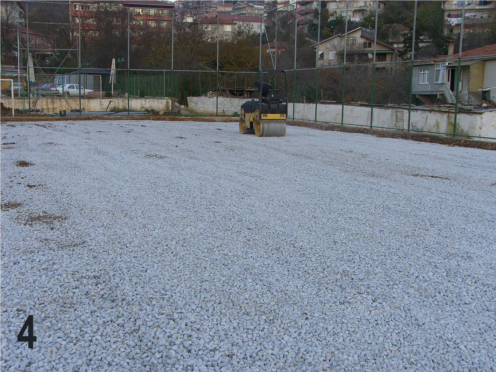 zemin düzeltme, mıcır zemin düzeltme, halı saha zemini yapımı,