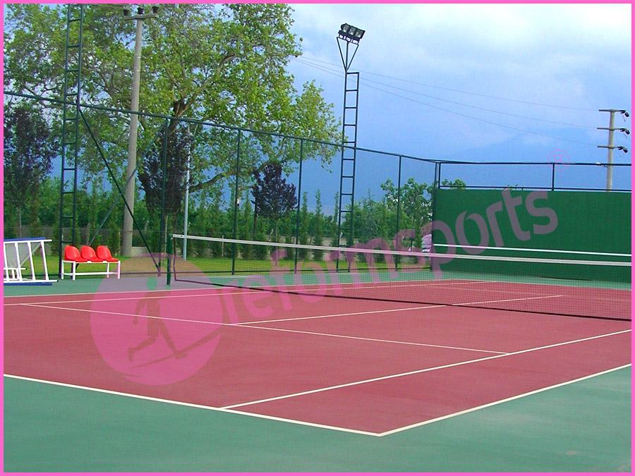 Bursa dosab akrilik tenis, akrilik tenis kortu, tenis kortu örnekleri, tenis kortu maliyeti