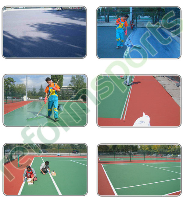 Akrilik Zemin Tenis Kortunun Uygulama Örnekleri