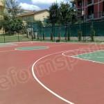 Tartan Zemin Basketbol Sahası -2